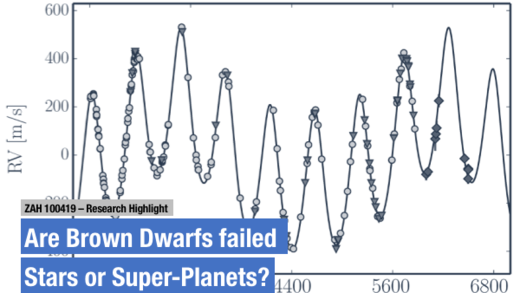 Are Brown Dwarfs failed Stars oder Super-Planets?